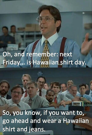 Hawaiian Shirt Day!